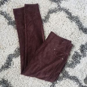 Spanx Ready to Wow Cord Brown Leggings